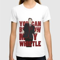 glee T-shirts featuring Hunter Clarington - Whistle - Nolan Gerard Funk - Glee - Minimalist design by Hrern1313