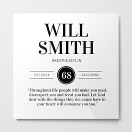 1   |  Will Smith Quotes | 190905 Metal Print