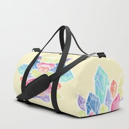 Crystals Yellow Duffle Bag