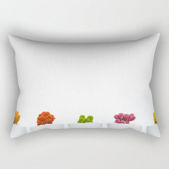 colorful cacti Rectangular Pillow