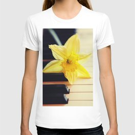 piano flower T-shirt