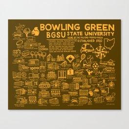 Bowling Green State University Map Canvas Print