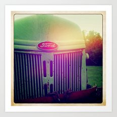 Sunset grill Art Print