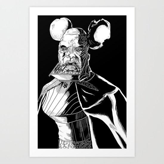 Vador Mouse Unmasked Art Print