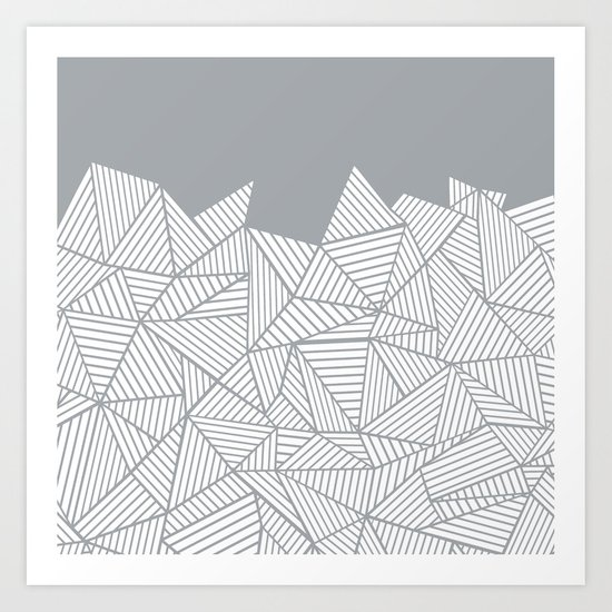 Abstract Mountain Grey Art Print