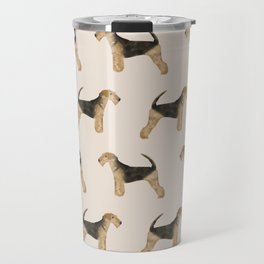Airedale Terrier pattern dog breed cute custom dog pattern gifts for dog lovers Travel Mug