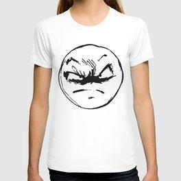 face of weird T-shirt