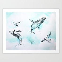 Whale Sky Art Print