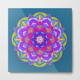 Colourful mandala Metal Print