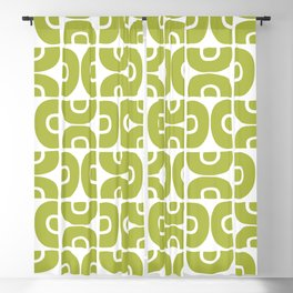 Groovy Mid Century Modern Pattern Chartreuse Blackout Curtain
