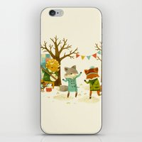 dancing iPhone & iPod Skins featuring Critters: Spring Dancing by Teagan White