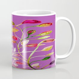 For Valentine's Day Enjoy Purple Plum, Red and Green Leaves! Coffee Mug