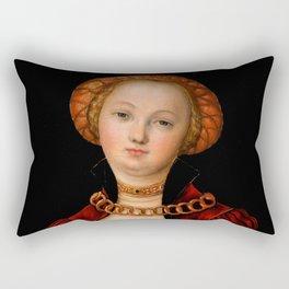 """Lucas Cranach the Elder """"Portrait of a Woman"""" 2. Rectangular Pillow"""