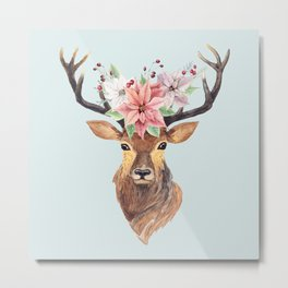 Winter Deer 2 Metal Print
