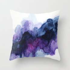 Purple abstract watercolor Throw Pillow
