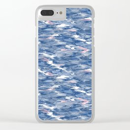 Scribbling with a crayon Clear iPhone Case