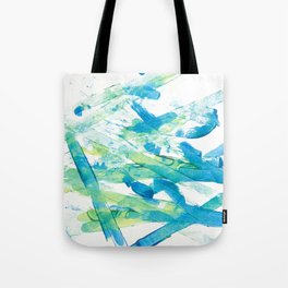 Blue Green and Yellow Tote Bag