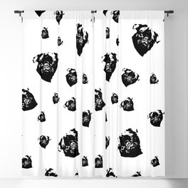 Pug Dog Gifts Blackout Curtain