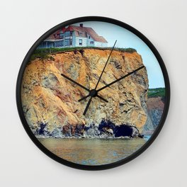 Cliffs of Perce Panoramic Wall Clock