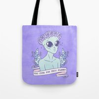 heymonster Tote Bags featuring Too Cute by heymonster