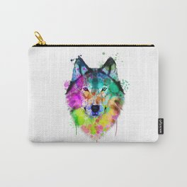 Wolf Watercolor, Wolf Painting, Wolf Portrait, Wolf art, Wolf illustration Carry-All Pouch