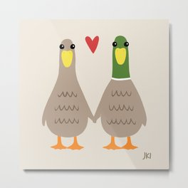 Love Ducks Metal Print