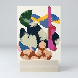 Modernism Shapes Collage - Minimalism Mid-century Design - Colorful Shapes Modernism Mini Art Print