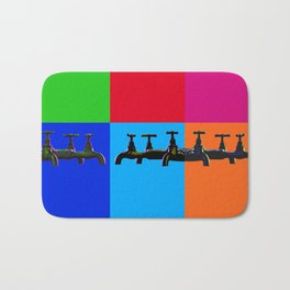 Industrial inspiration for a colorful tap design Bath Mat