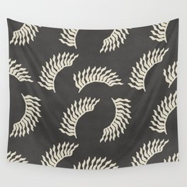 When the leaves become wings - Gray and beige Wall Tapestry