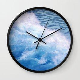 Wild waves Wall Clock