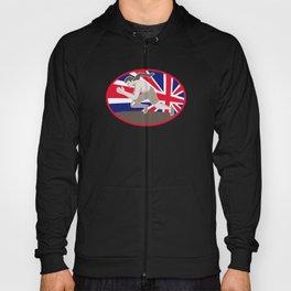 runner track and field athlete british flag Hoody