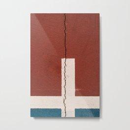 Cracked wall Metal Print