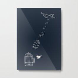 Peace Bomber Metal Print