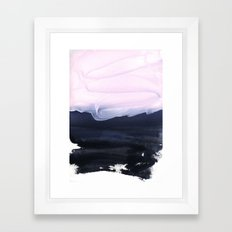 pink & blue Framed Art Print