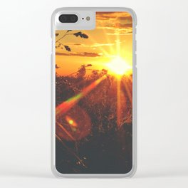 Sunset At Rice Field Shelter • Appalachian Trail Clear iPhone Case