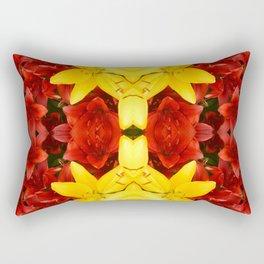 """A Gathering of Lilies"" Remix - 1 (4-1) [D4465~12] Rectangular Pillow"