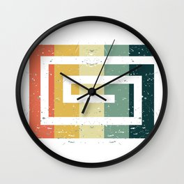 Colorful Spiral Art Gift Idea for Shirts and other Art Products Birthday Friends and Art Fans Hypno Wall Clock