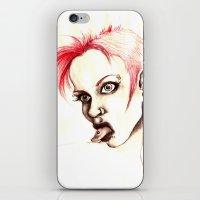 rebel iPhone & iPod Skins featuring rebel by cistus skamberji
