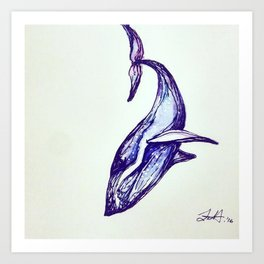 Whale Illustration Art Print