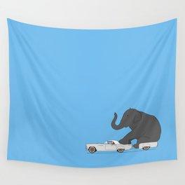 Thunderbird with elephant Wall Tapestry