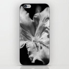 Iris Black and White iPhone Skin