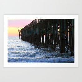 Flagler Pier Art Print