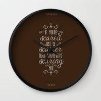 bambi Wall Clocks featuring Bambi by Nikita Gill