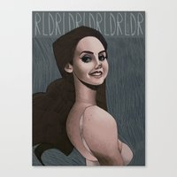ultraviolence Canvas Prints featuring LDR  by MYLÈNE BRAGINA