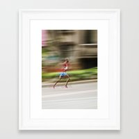runner Framed Art Prints featuring Runner  by Gabriel  Espinosa