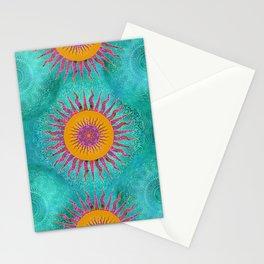 Magic Sun Mandala In Bold Colors Stationery Cards