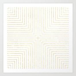 Converge Three Gold Art Print