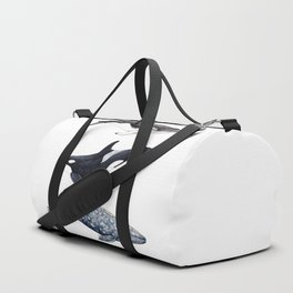 Orca, humpback and grey whales Duffle Bag