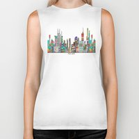 melbourne Biker Tanks featuring Melbourne by bri.buckley