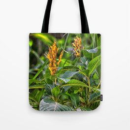 Yellow flower in the rain forest Tote Bag